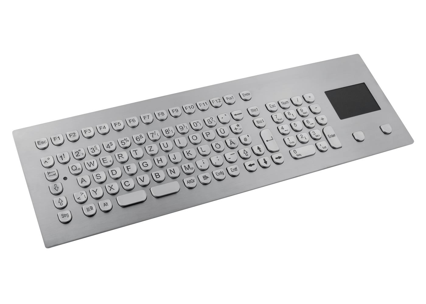 Clavier inox antivandale 105 touches avec touchpad