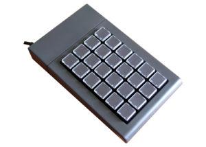 Clavier semi-industriel 24 touches programmable en boitier de table