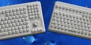 InduProof Advanced : clavier lavable 104 touches gris étanche IP68 avec souris intégrée.