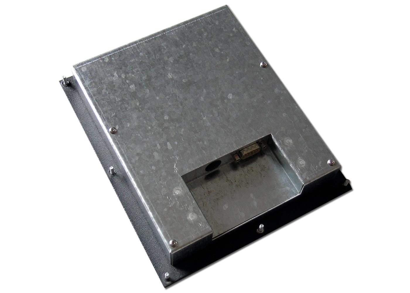 Terminal industriel avec clavier inox antivandale 12 touches avec afficheur 4×20 caractères interface RS232 – Vue arrière