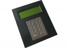 Terminal industriel avec clavier inox antivandale 12 touches avec afficheur 4x20 caractères interface RS232