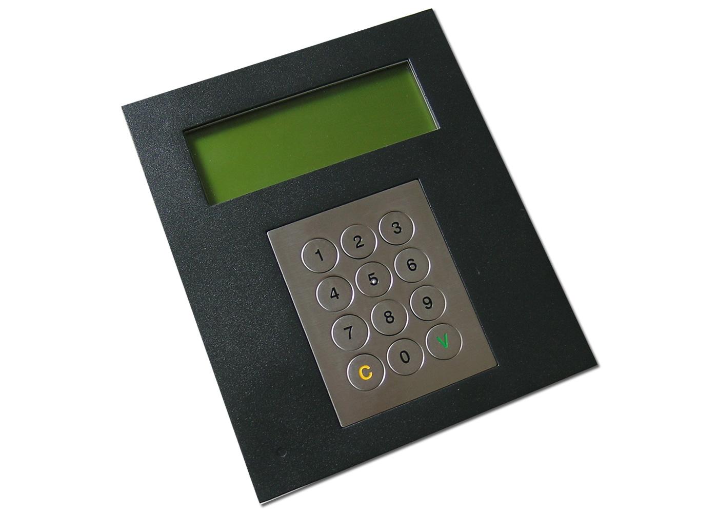 Terminal industriel avec clavier inox antivandale 12 touches avec afficheur 4×20 caractères interface RS232