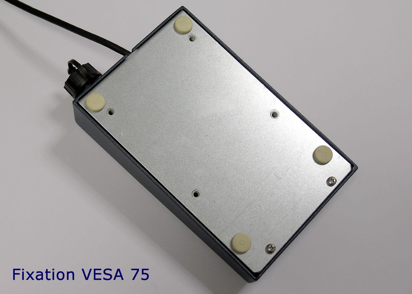 Clavier industriel 17 touches en boitier de table avec hub USB intégré – Fixations VESA75