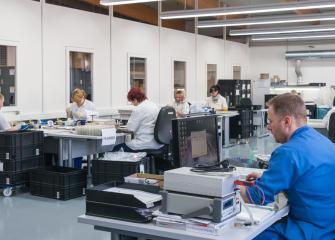 Le département production de GETT où les produits InduKey sont assemblés