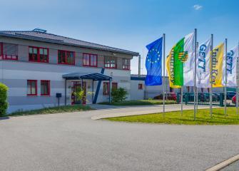Le siège social de la société GETT à Treuen, en Allemagne