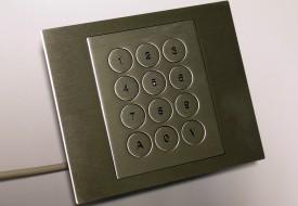 Clavier inox antivandale 12 touches intégrable en panneau par l'avant
