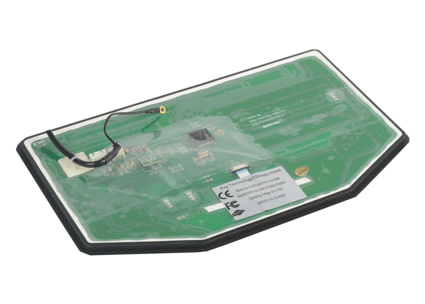 Clavier série M275TP-FN-OEM – Vue de dessous