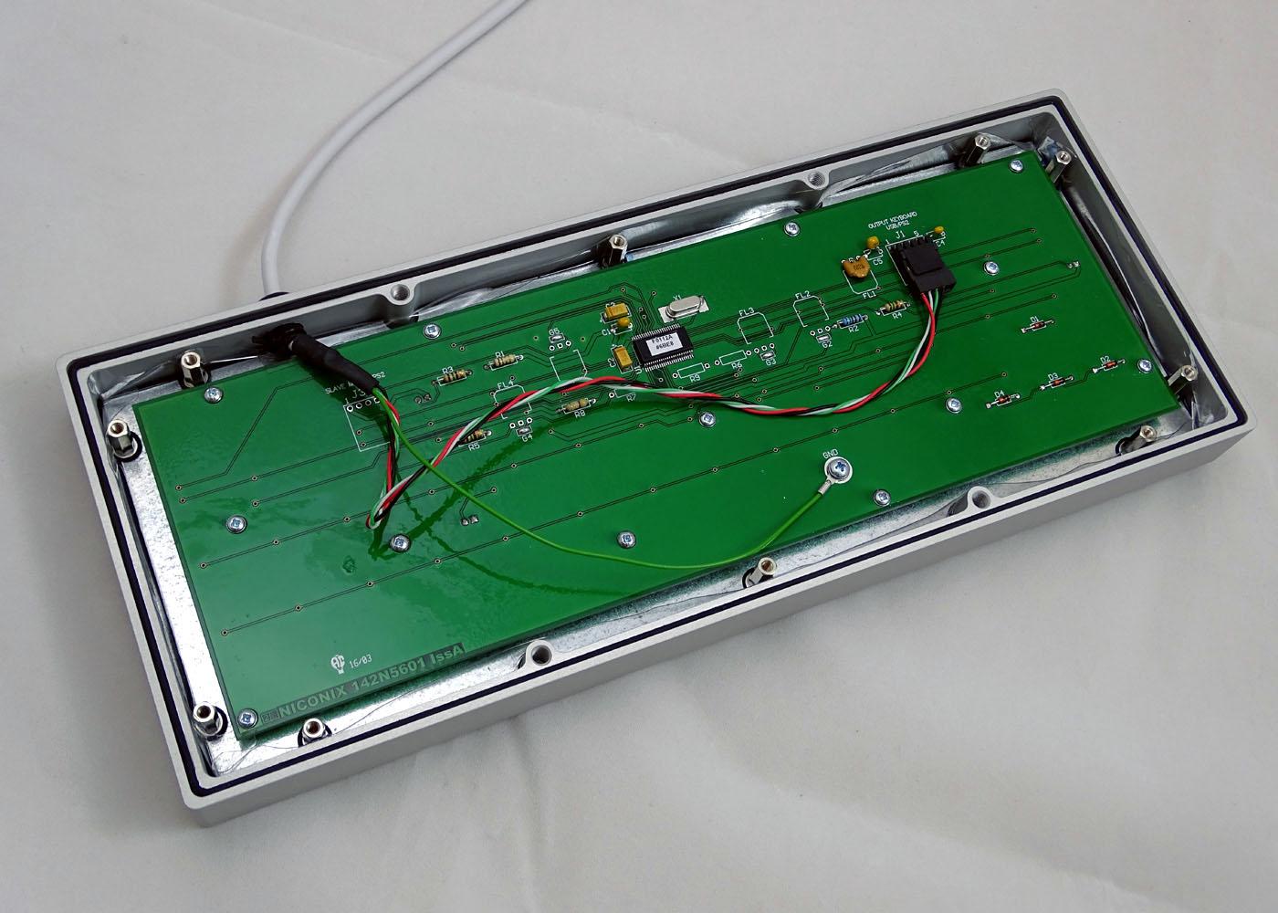 Clavier NX5600 – Vue d'ensemble de l'intérieur du clavier