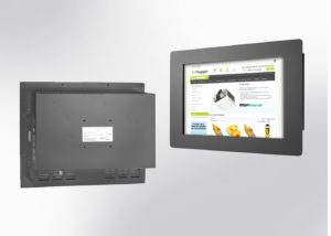 """PM2155 : écran industriel tactile 21.5"""" intégrable en panneau par l'avant"""