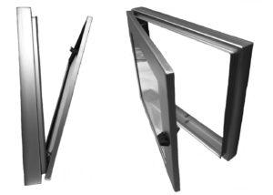Hublot inox pour écran LCD