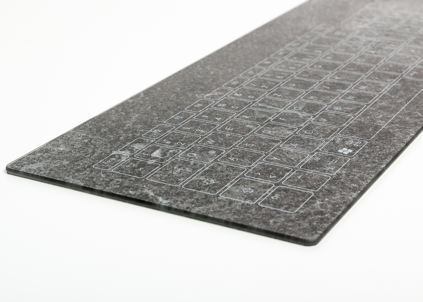 TKR-103 – Clavier verre capacitif intégrable en panneau – Face avant personnalisée