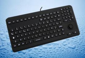Clavier lavable 104 touches noir étanche IP68 avec mouse button