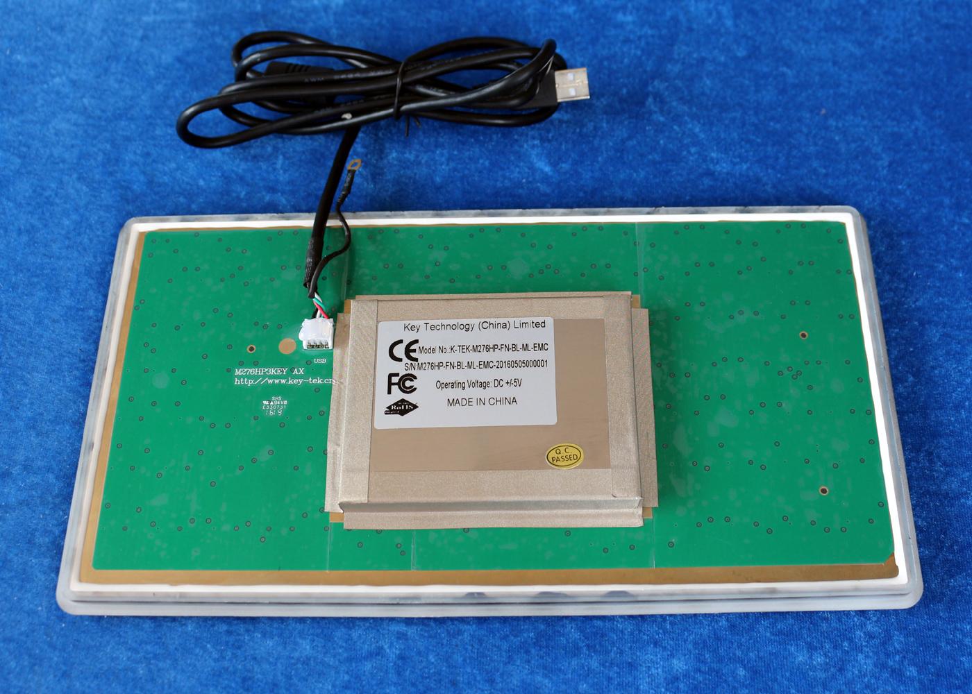 Clavier durci M276HP-FN-OEM-BL-ML-EMC – Vue arrière