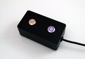 Clavier industriel 2 touches avec bagues de rétro-éclairage
