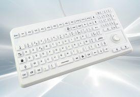 Clavier lavable 104 touches blanc étanche IP68 avec mouse button