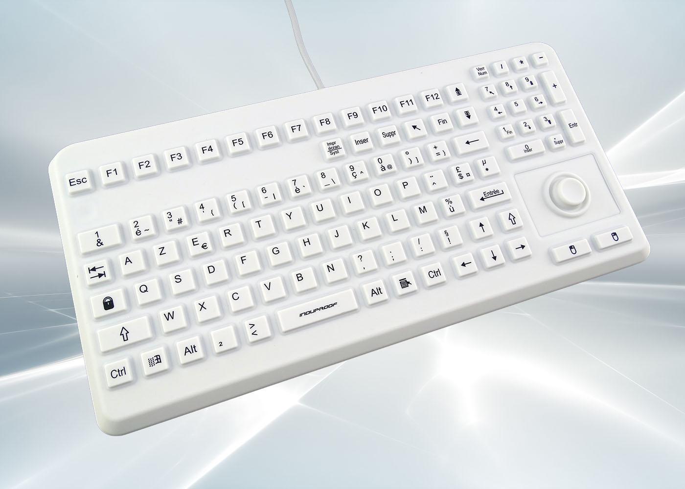 Clavier silicone lavable avec souris mouse button