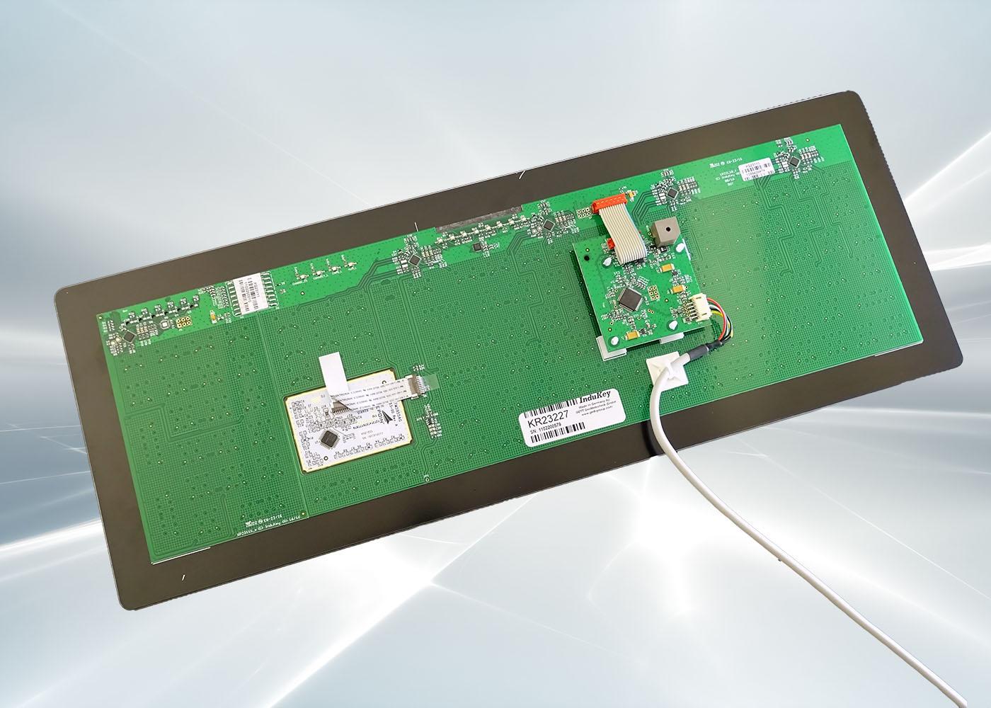Clavier verre tactile intégrable en panneau – Vue arrière