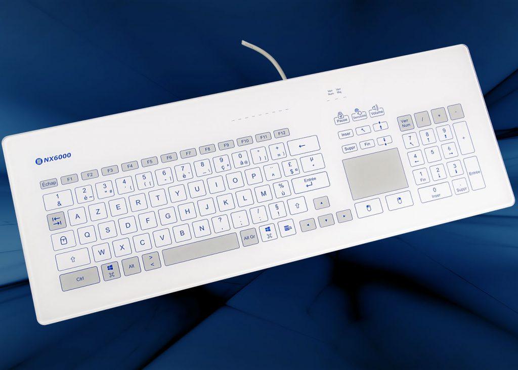 Clavier verre tactile intégrable en panneau