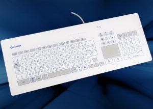 NX6000 : Le premier clavier tactile intégrable en panneau avec 103 touches et touchpad nettoyable et décontaminable - AZERTY français