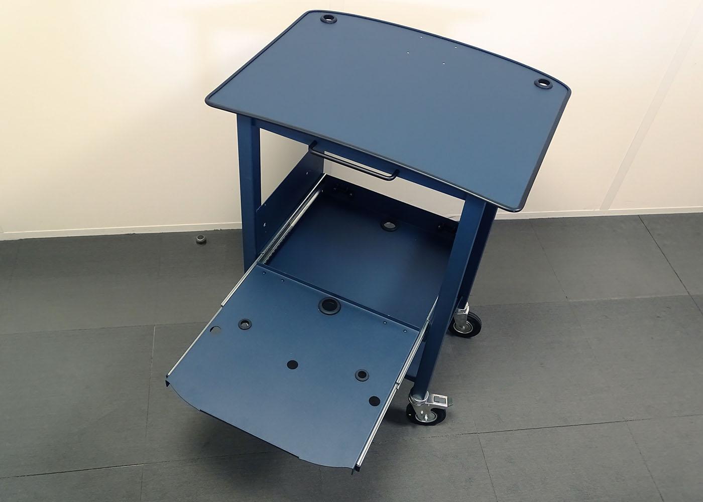 NX557 – Chariot mécano-soudé – plateau imprimante ouvert