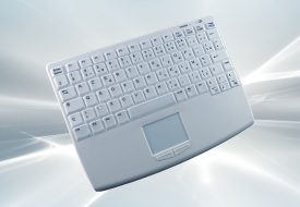 Clavier sans fil nettoyable 82 touches mécaniques avec membrane silicone et touchpad intégré