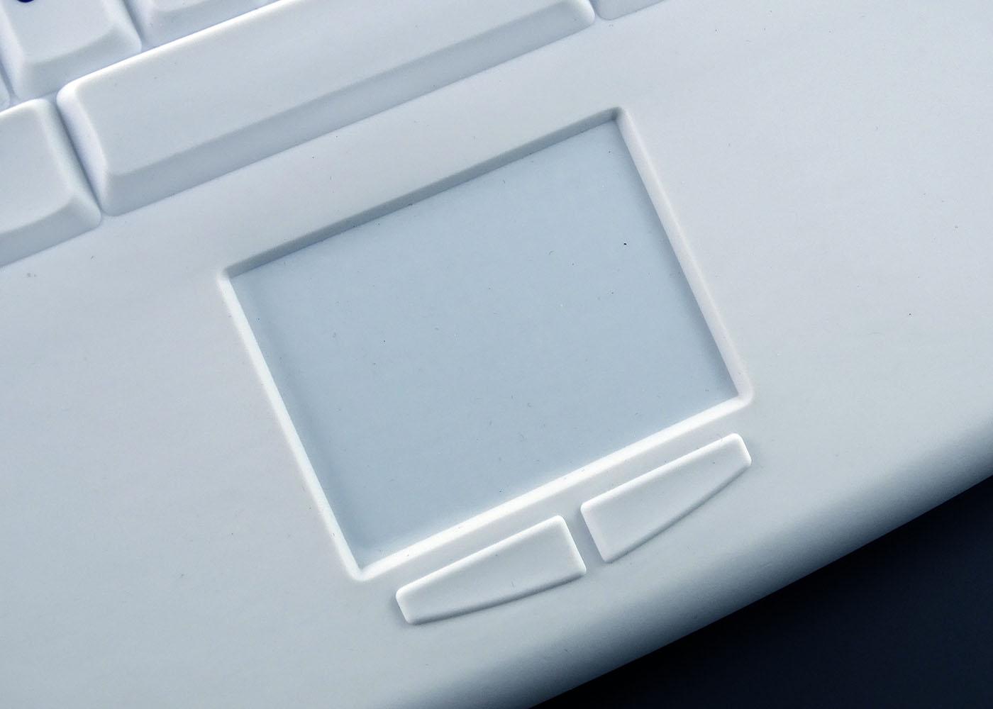 Clavier sans fil nettoyable pour applications médicales – Détail souris touchpad