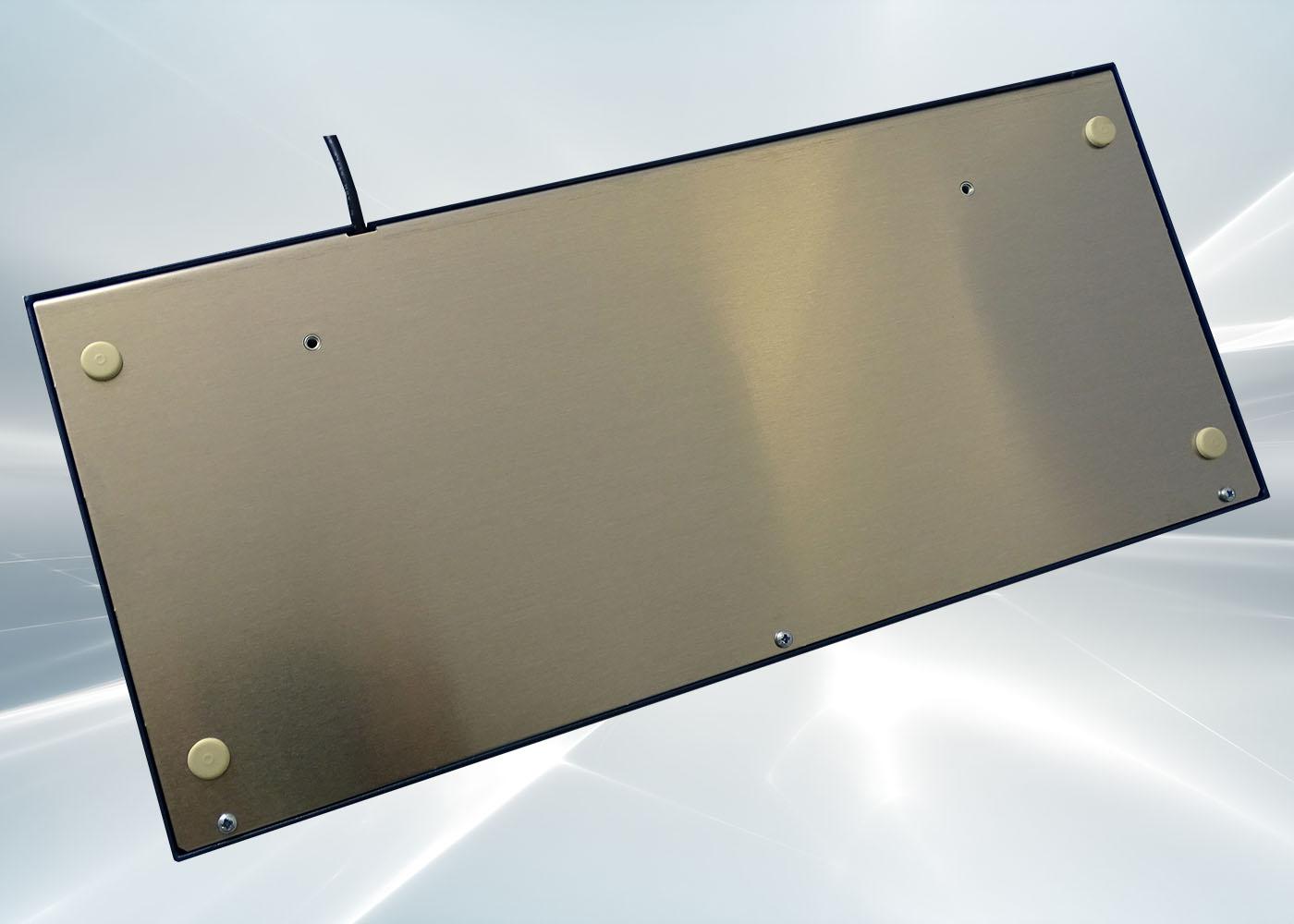 Clavier 105 touches en boîtier de table avec trackball 38 mm – Vue de derrière