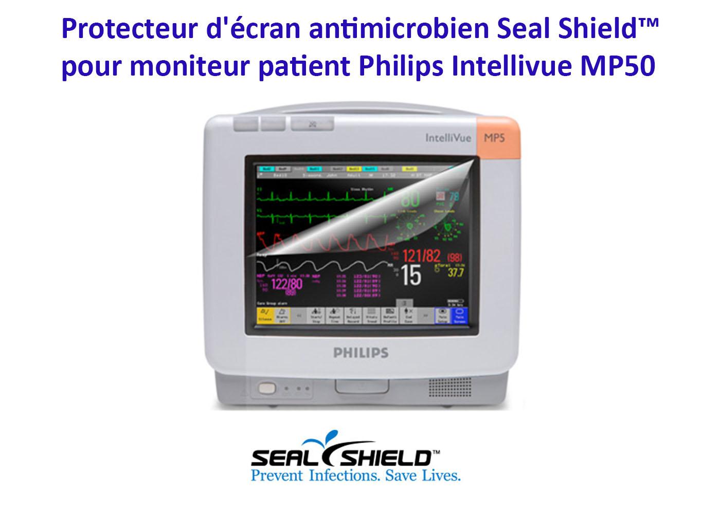 Film de protection pour moniteur patient Philips Intellivue MP50