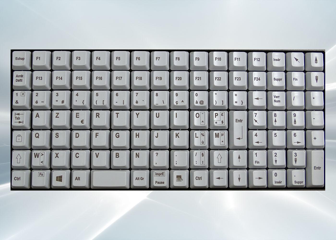 Clavier semi-industriel 112 touches course longue avec hub USB – Layout