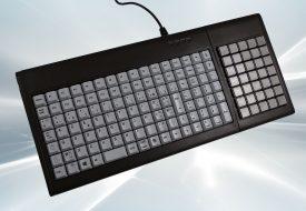 Clavier semi-industriel 147 touches course longue marqué avec Hub USB