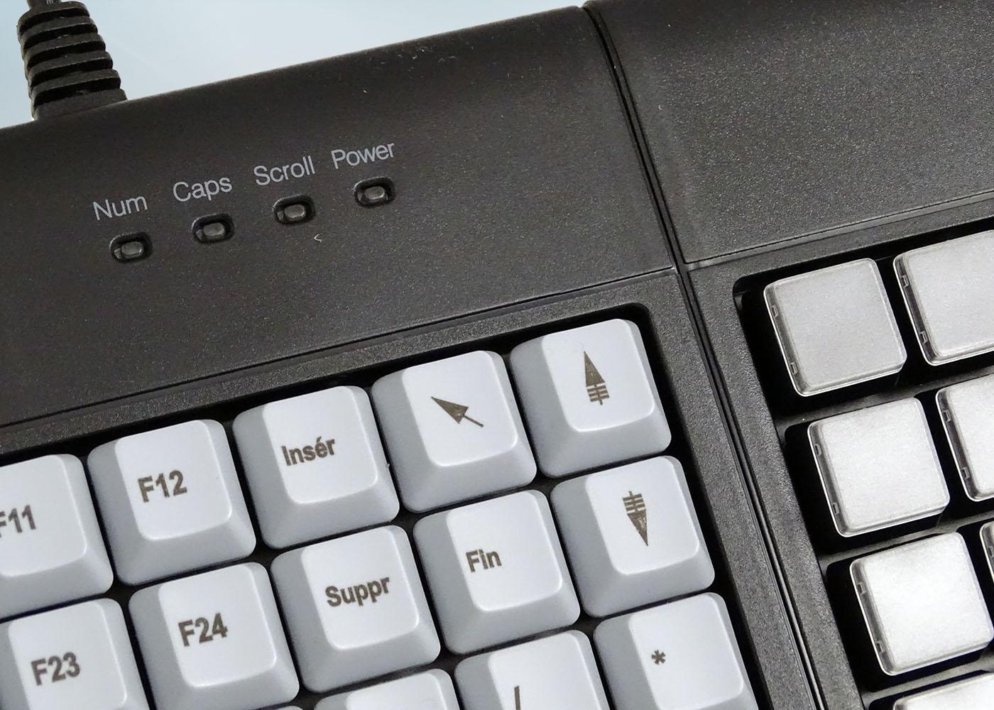 Clavier semi-industriel 147 touches course longue avec hub USB – Détail LEDs