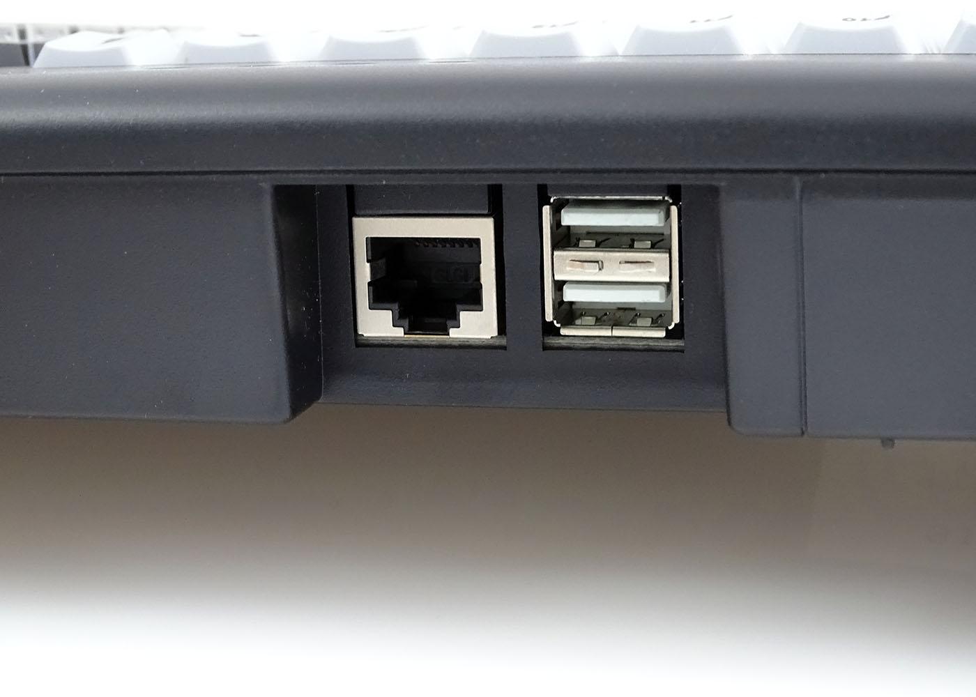 Clavier semi-industriel 147 touches course longue avec hub USB – Cordon déconnectable