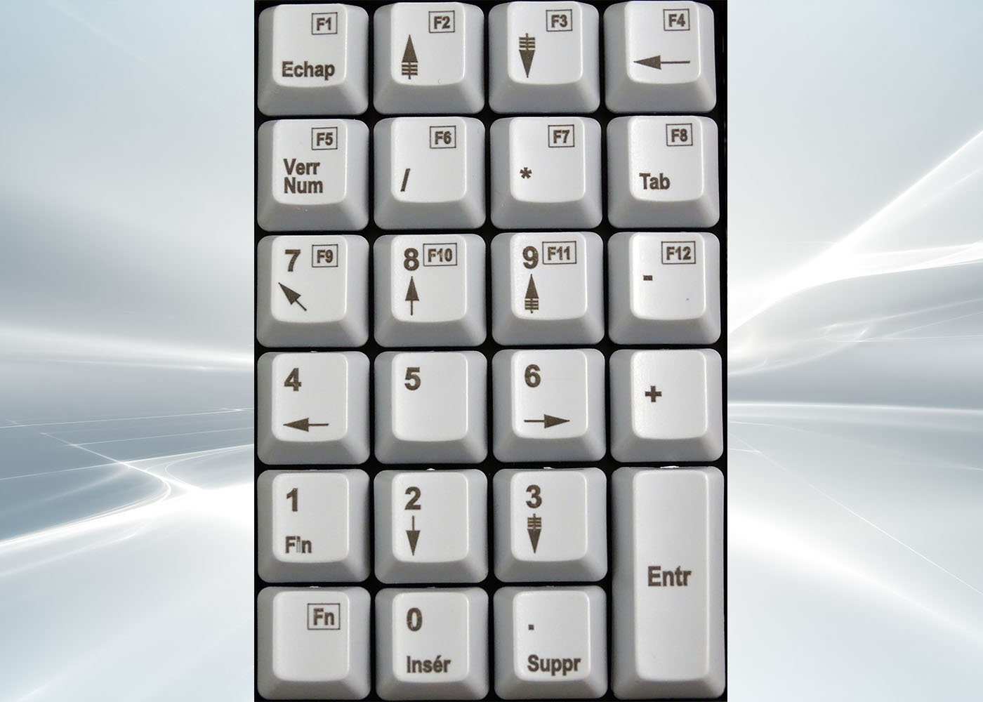 Clavier semi-industriel 24 touches course longue – Layout
