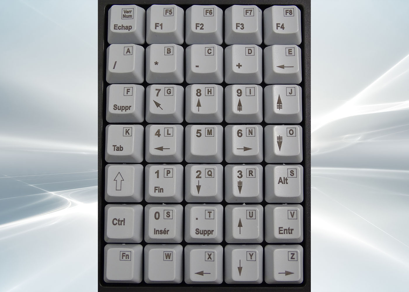 Clavier semi-industriel 35 touches course longue –  Layout