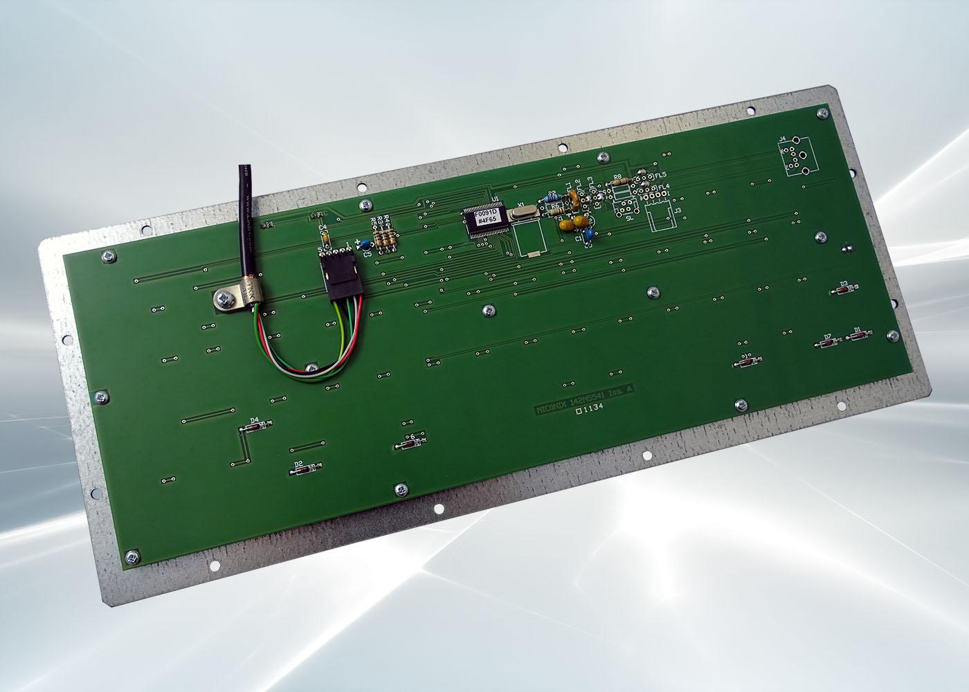 Clavier industriel 86 touches OEM – Vue arrière