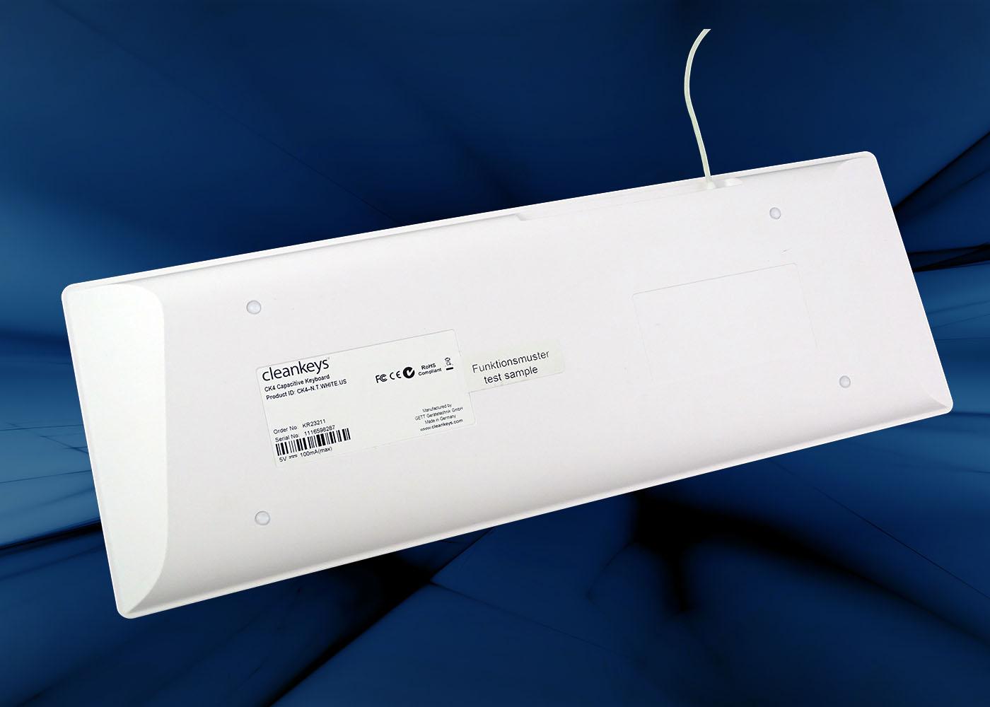 NX6010 : clavier verre tactile capacitif filaire avec touchpad – Vue arrière