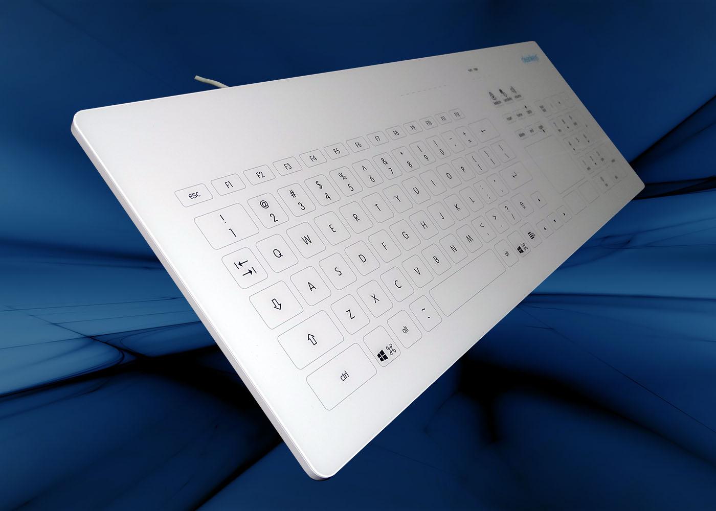 NX6010 : clavier verre tactile capacitif filaire avec touchpad – Profil