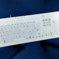 NX6010 : Le clavier tactile filaire avec 103 touches et touchpad en boîtier de table 100% nettoyable et décontaminable - NX6010 - CK4