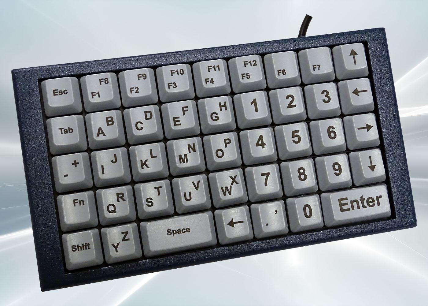 NX518 : clavier industriel compact 43 touches en boitier de table
