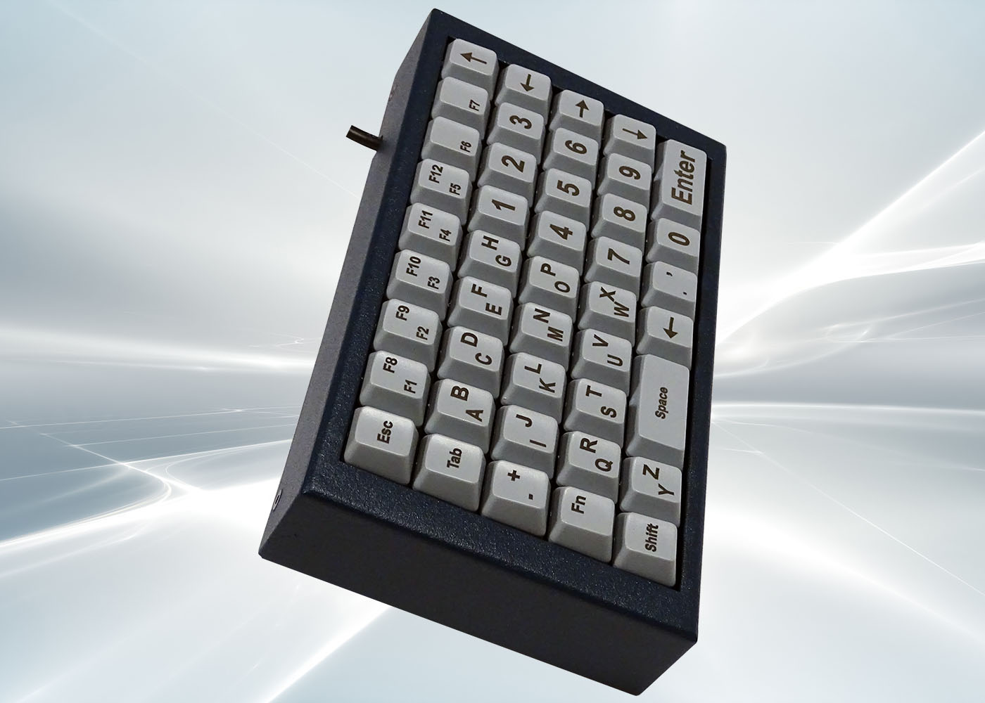NX518 : clavier industriel compact 43 touches en boitier de table – Profil