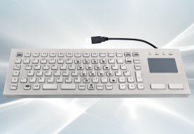 Clavier inox antivandale 86 touches avec touchpad - Sans silicone et LABS-free