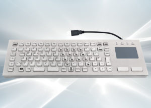 Clavier inox antivandale 86 touches avec touchpad - Sans silicone et LABS-free