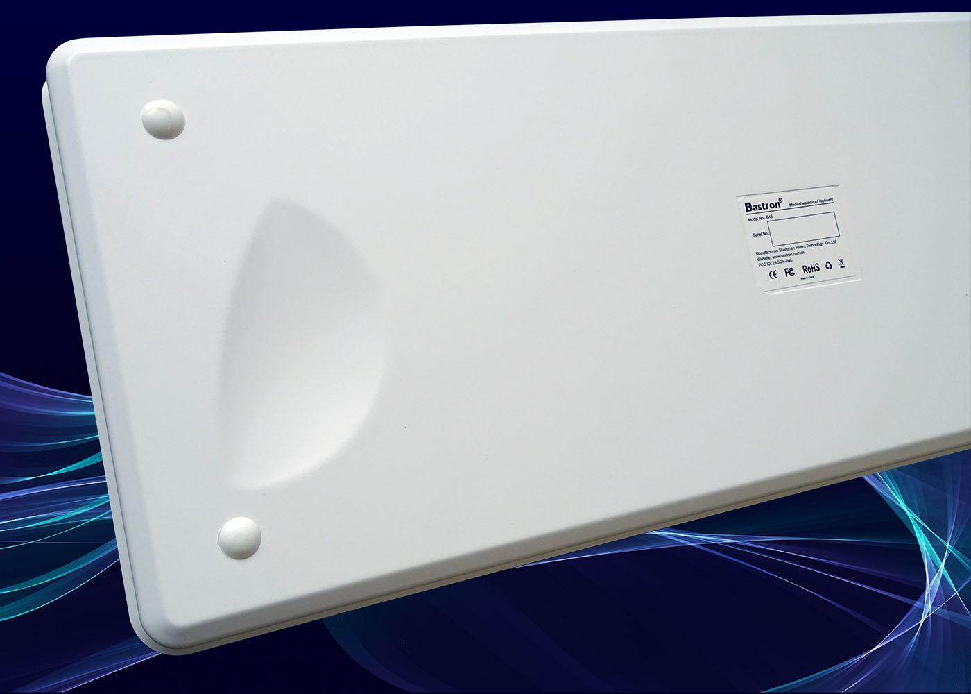 B45 : clavier verre étanche, USB, RF 2,4 Ghz, Bluetooth® – Vue de dessous