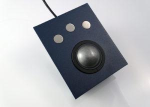 Trackball 50mm 3 boutons - Vue de dessus