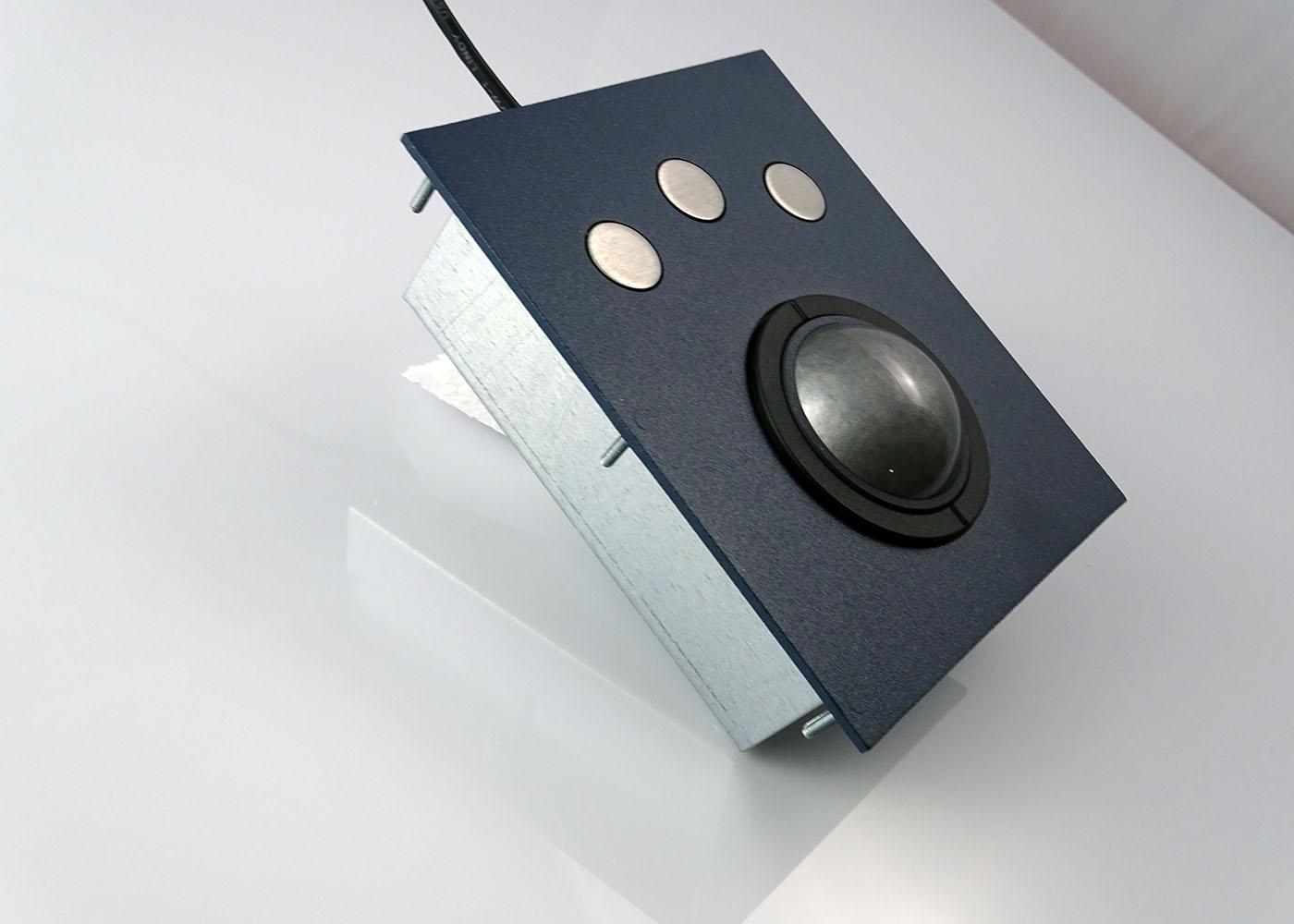 Trackball optique laser 3 boutons, boule 50 mm – Vue de côté