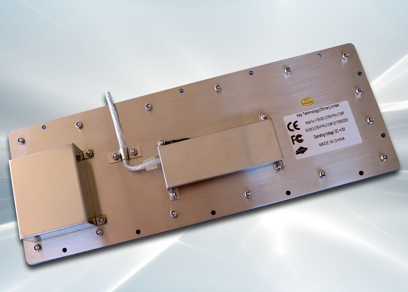 Clavier inox 104 touches avec trackball 25mm – vue arrière