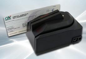 Lecteur de chèques CMC7 avec lecteur de cartes magnétiques tri-pistes sécurisé intégré