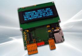 Terminal ASCII OEM RS232 / Ethernet avec afficheur OLED