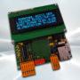 Terminal ASCII OEM RS232 / Ethernet avec afficheur OLED et gestion de 8 touches et 4 LEDs - Afficheur OLED bleu