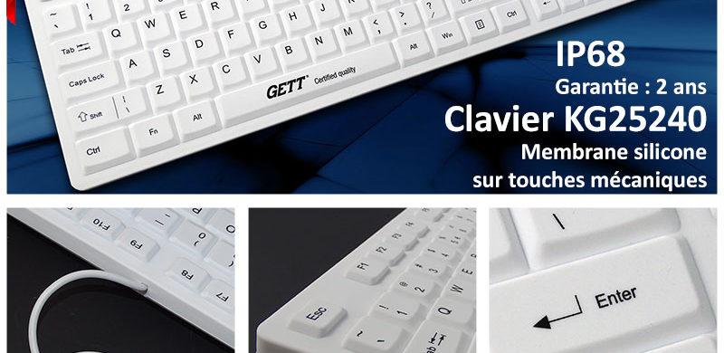 KG25240 - Nouveau clavier étanche avec membrane silicone sur touches mécaniques
